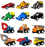 Toys : WINONE Pull Back Cars,Mini Toy Cars, 3 4 5 Year Old Boy Toys Car, 12 Pack Assorted Construction Vehicles and Racing Cars,Kids Toddler Truck Toy for Birthday Party Supplies