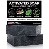 Activated Charcoal Tea Tree Soap - with Peppermint! Made in the USA: All Natural