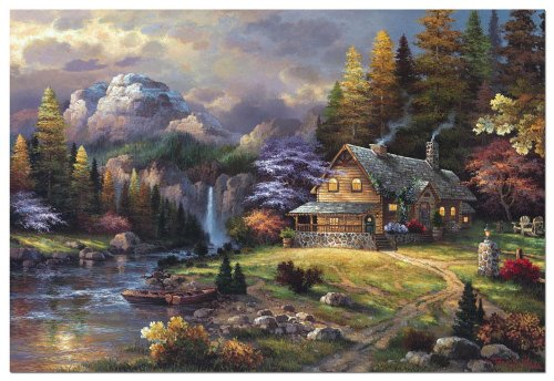 4,000 Piece Puzzle - Mountain Hedaway