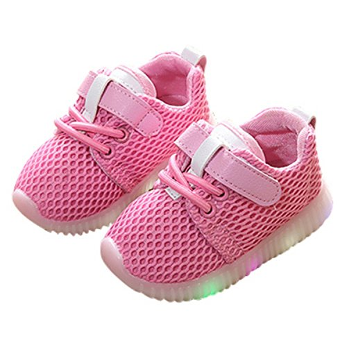 3 Light Ocho (Led Kids Shoes Children Shoes With Light Led Luminous Glowing Sneakers Baby Toddler Boys Girls Shoes Eu 21-25 Same as picture6 3)