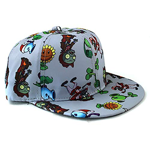 Children Cartoon Plants Vs Zombies Baseball Cap Child hat Empty top hat hat(Light Grey)]()