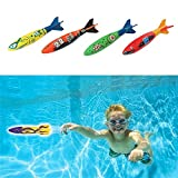 Diving Torpedo Pool Toys for Kids Underwater Swimming Diving Toys Summer Pool Party Good as a Party Like 4