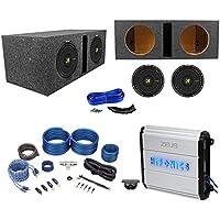 (2) Kicker 44CWCD104 CompC 10 1000W Car Subs+Vented Sub Box+Hifonics Amplifier