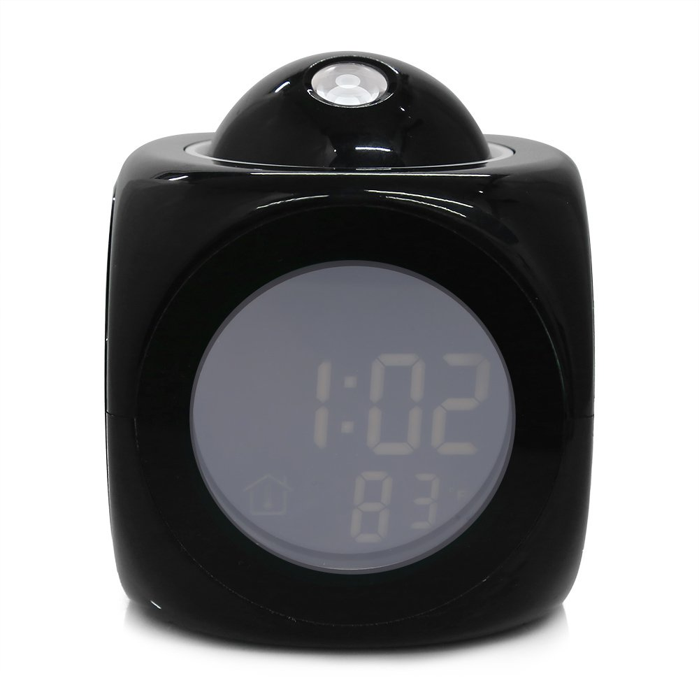 Amazon.com: Clock Time - Original Alarm Clock Vibe Lcd Talking Projection Time Amp Temp Display Reveil Relojes Despertadores - Wall Sync As With On Magnet ...
