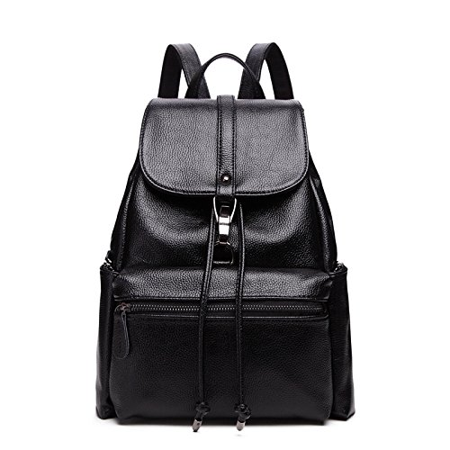 School Shoulder Backpack Women's Leisure New Leather Genuine Bags Bag Travel xwCYC4vEqn