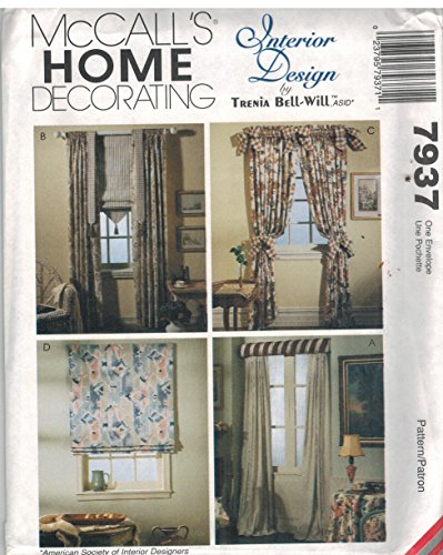 - 7937 Uncut McCalls Sewing Pattern Home Decor Window Treatments Curtains Roman Shades Trenia Bell-Will