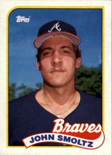 John Smoltz Cards (1989 Topps Baseball Rookie Card #382 John Smoltz Mint)