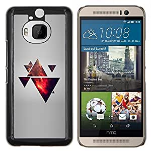 Jordan Colourful Shop - Triangle Polygon Galaxy For HTC One M9+ / M9 PLUS Personalizado negro cubierta de la caja de pl????stico