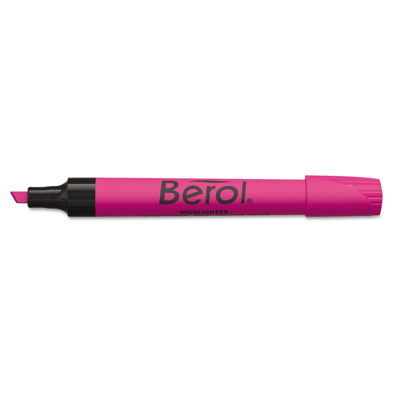 Berol – 4009 subrayador, punta cuadrada, rosa, rosa, cuadrada, 12/PK afc8dd