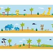 "Wandkings border ""Great Safari Tour"" Length: 177 inch, self-adhesive, for children's rooms"