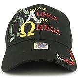 i am alpha and omega - Trendy Apparel Shop I am The Alpha and Omega Embroidered Christian Baseball Cap - Black