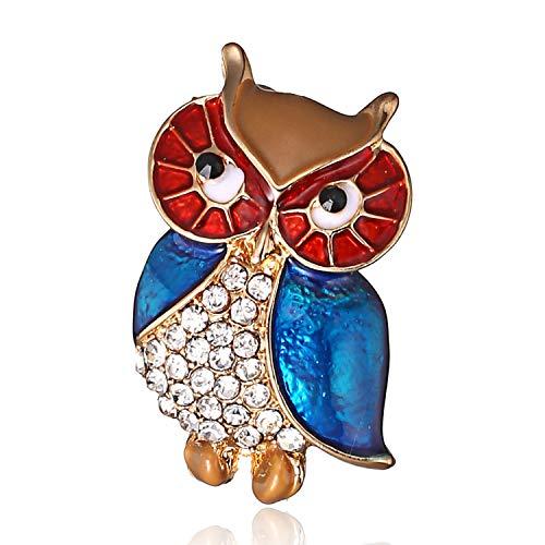 Brooch Lapel Pin Elegant Crystal Cute Owl Brooch