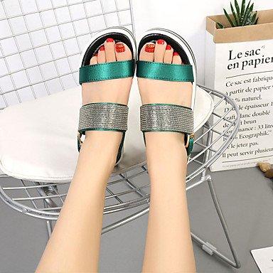 Confort à Marche cm Block Eté Heel GGX LvYuan green Confort Noir Boucle DE Chaussures Femme Gomme 2 5 Talons Moins Vert CwqX8txq