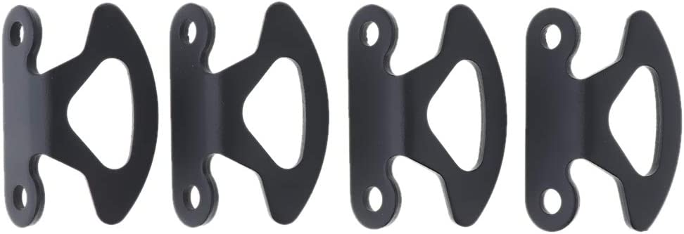 4 pcs//Pack Truck Bed Pickup Box Black Tie Down Hooks for Ford