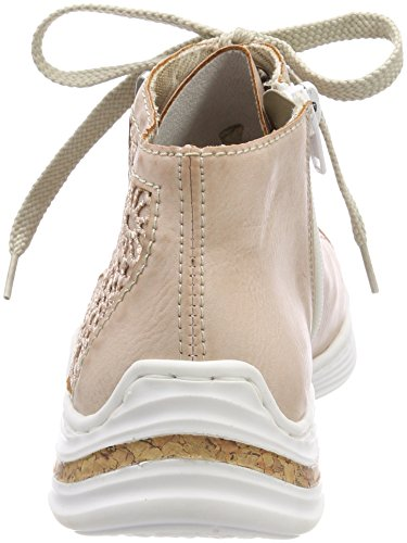 Rieker Damen M3539 Sneaker Rot (Rose/Altrosa)