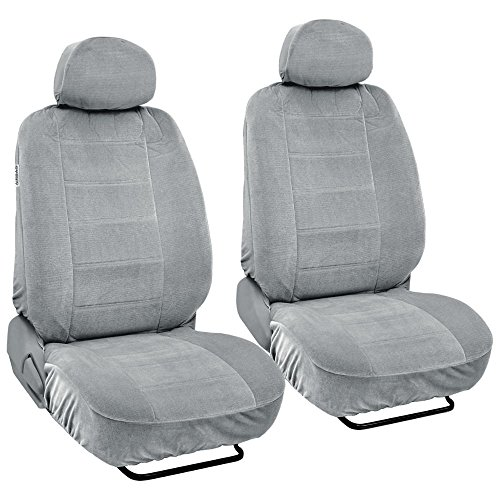 Chevelle Bucket Seat Covers (BDK Classics - PolyVelour Seat Covers for Truck SUV Car - Large (Gray))