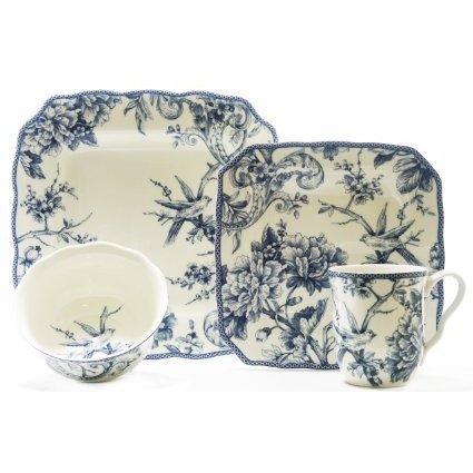 Adelaide Blue 16-piece Dinnerware Set Casual, Formal