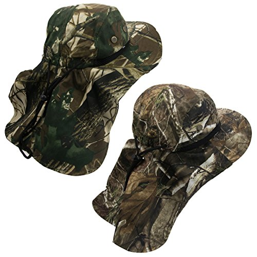 2 Pack Boonie Hat With Neck Flap, Fishing Hat, Sun Hat For Adults, Hunting, Fishing, Outdoor Use