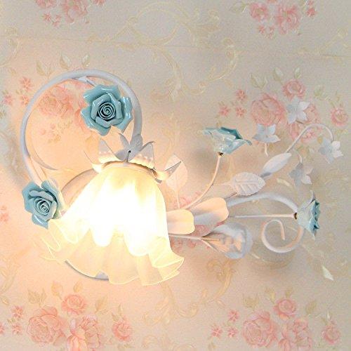 varilla blanca flor amarilla Creativo jard/ín escalera l/ámpara de cabecera c/álida habitaci/ón de los ni/ños dormitorio balc/ón pasillo l/ámpara de pared luz blanca