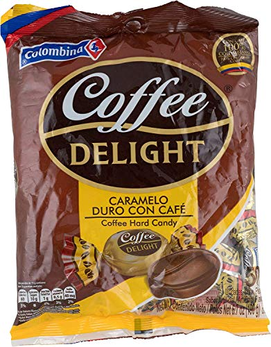 Colombina Coffee Delight 100% Colombian Coffee Hard Candy (Pack of 50) (Colombian Food Products)