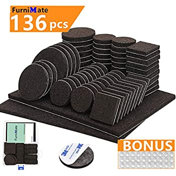 X-PROTECTOR Premium Two Colors Pack Furniture Pads 133 Piece ...