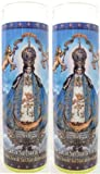 Set of 2 Our Lady of San Juan De Los Lagos Prayer Candles 2 Veladoras De Nuestra Senora De San Juan De Los Lagos