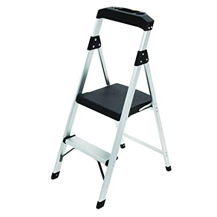 Pleasing 2 Step Aluminum Ultra Light Step Stool Ladder With Project Tray Top And 225 Lb Capacity Ansi Type 2 Duty Rating 2 Step Gmtry Best Dining Table And Chair Ideas Images Gmtryco