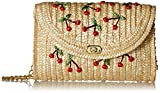 Pulama Straw Crossbody Crochet Shoulder Bag Pom Pom Tassel Pinapple Fringe Fashion Raffia Clutch Cherry