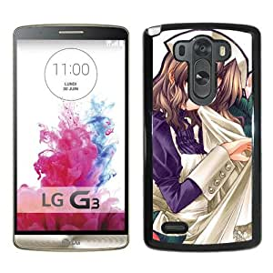 Popular And Unique Designed Cover Case For LG G3 With Girl Brunette Apron Flowers Background black Phone Case