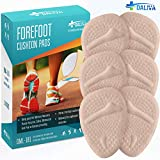 Premium Ball of Foot Cushion - Metatarsal Pads Metatarsal Cushion - High Heel Inserts for Women (6pcs) - Soft Gel Insoles and Shoe Inserts - Mortons Neuroma Pain Relief - Forefoot Cushioning