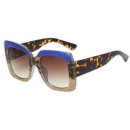 LILICAT_Gafas Gafas Mujer, Sol Cuadradas de Gran Tamaño con Gradiente Degradado, Gafas de Sol de Rectangulares Retro Vintage 2018 Regalos Moda Gafas ...