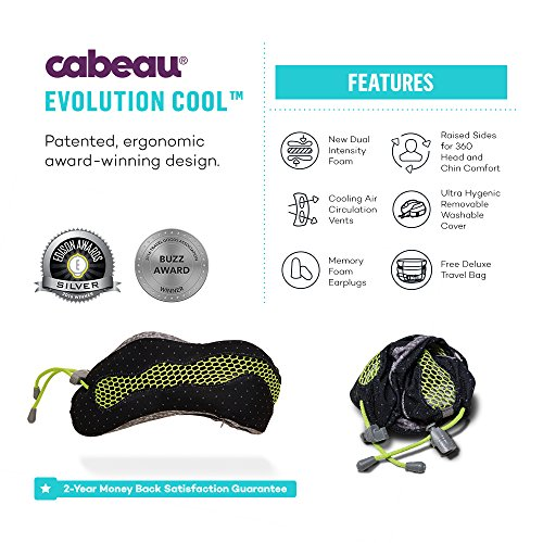 Cabeau Evolution Pillow.Cabeau Evolution Cool Travel Pillow The Best Neck Pillow With 360 Head Neck Support