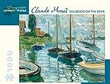 1000 piece puzzle monet - Claude Monet - Sailboats on the Seine 1000 Piece Jigsaw Puzzle 25 x 20in