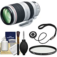 Canon EF 100-400mm f/4.5-5.6 L IS II USM Telephoto Zoom Lens with Multi-Coated UV Filter + Kit