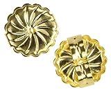 uGems 18K Yellow Gold Swirl Earring Backs Jumbo 9mm (1 Pair)