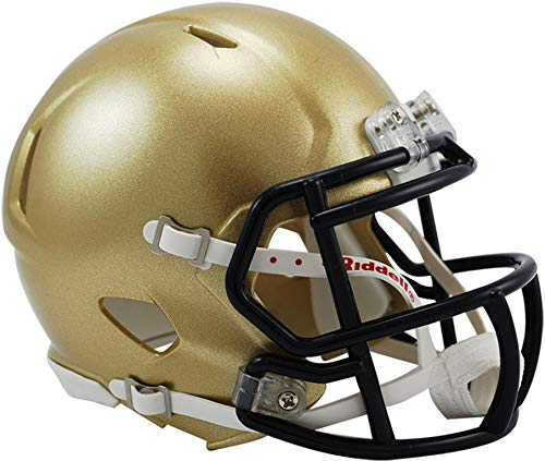 Sports Memorabilia Riddell Navy Midshipmen Revolution Speed Mini Football Helmet - College Mini - Navy Mini Helmet