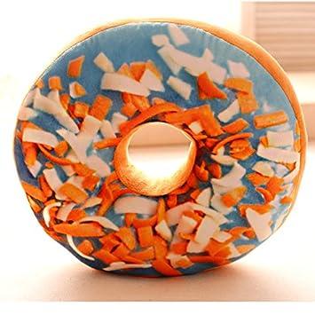 JWKZ Cojín de Peluche de simulación Donut cojín, Encantador ...