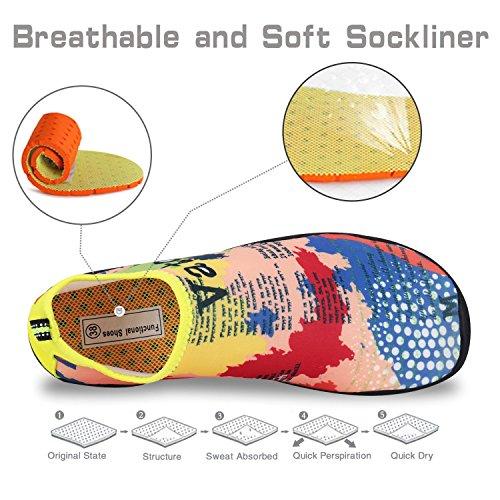 Spiaggia Sport Scarpe Camuffare Per Water Aqua Yoga Immersione Da Nuotare Calzini Donna Surf Uomo q7ntw5gw