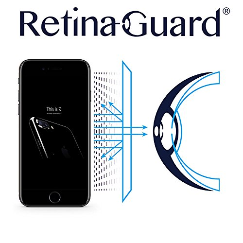 RetinaGuard Anti-UV, Anti-blue Light Screen protector for iPhone7 Plus - SGS & Intertek Tested - Blocks Excessive Harmful Blue Light, Reduce Eye Fatigue and Eye Strain (Transparent)