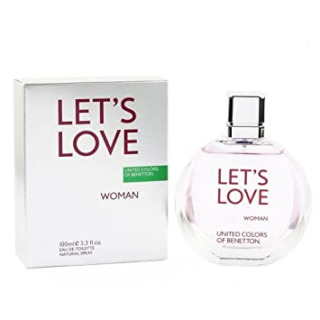 Benetton Lets Love Eau de Toilette Spray for Women, 3.4 Ounce