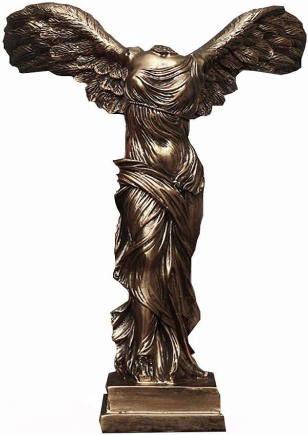 6x4x2inch YB/&GQ Dieu Grec Statues,Victoria D/éesse Figure Sculptures Romain Victoire Ail/ée Samothrace Bureau Ornements pour D/écor /à La Maison Collection Cadeaux Bronze 14x10x4.5cm