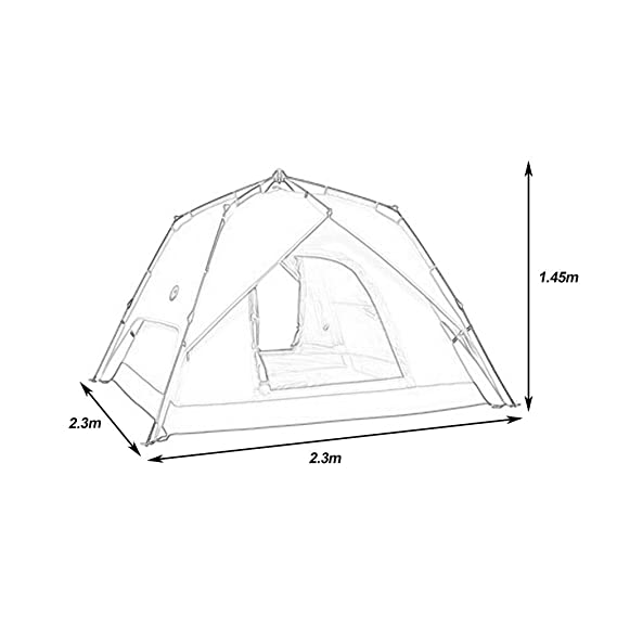 amazon 3 4 persons portable fully automatic tent rainproof 4 Person Tent Sleeping amazon 3 4 persons portable fully automatic tent rainproof tent double layers outdoor c ing hiking fishing hunt backpacking tent new 1 sports