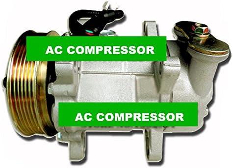 GOWE compresor de aire acondicionado para Sanden a/c aire acondicionado Compresor Bomba con embrague para coche Peugeot 206 sd7 V12ra1501 sd6 V121412 F sd6 ...