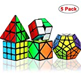 Dreampark Speed Cube Set, 5 Pack Magic Cube Bundle