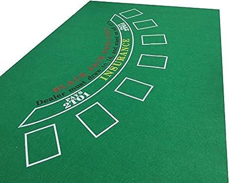 tapete Verde de Blackjack para Casino (Fieltro): Amazon.es: Juguetes y juegos