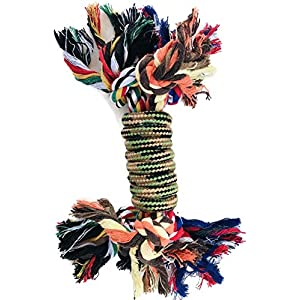 PROSPERITY DEVINE Colorful Rope Dog Toy 10 in. Click on image for further info.