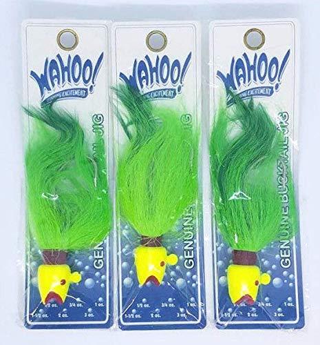 Wahoo (LOT of 3) 2oz Genuine Bucktail Jigs (WAH-LBJ20-LC)