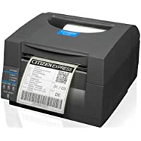 Citizen Systems America CL-S521-E-GRY CL-S521 Direct Thermal Printer 203 dpi Ethernet Auto DetectEmulates ZEB and DMX - Color Dark Grey-Black
