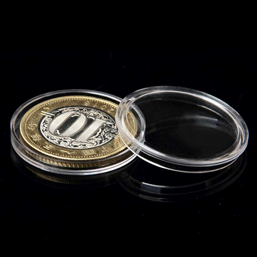 100pcs 28mm Coin Collection Holder Stroage Container Boxes Organizer Round Hight Quality Plastic Cases
