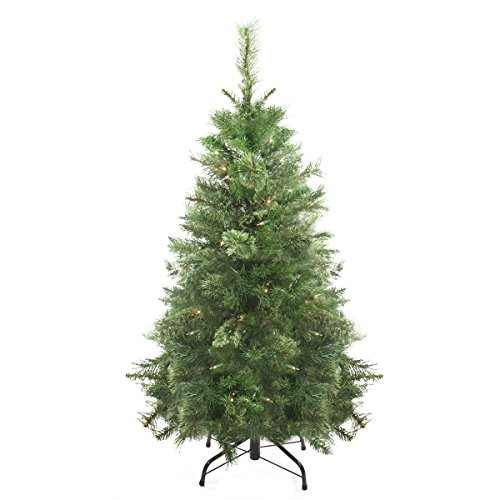 northlight pre lit atlanta mixed cashmere pine medium artificial christmas tree with clear lights 4 - Artificial Christmas Trees Amazon